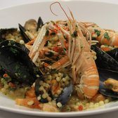 Scottish langoustines, native mussels,vine tomato chilli and parsley fregola.