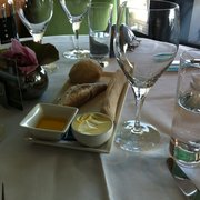 Selection of bread served before starter.