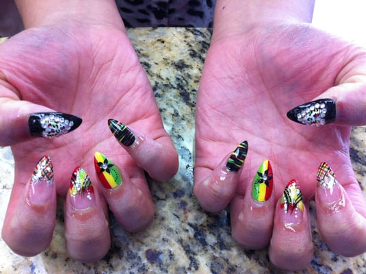 Displaying (19) Gallery Images For Bob Marley Nail Designs...