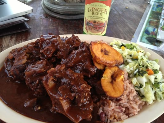 oxtails cabbage  rice n peas mon yanno   yelp