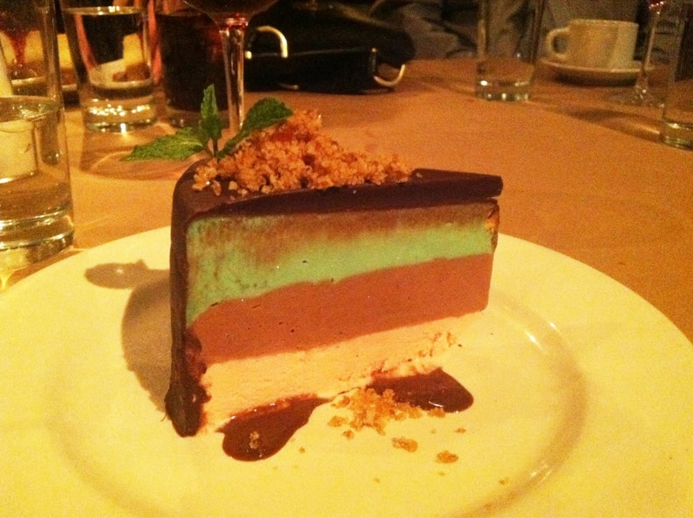 spumoni ice cream cake with black cherry, ganache and pistachio (made ...