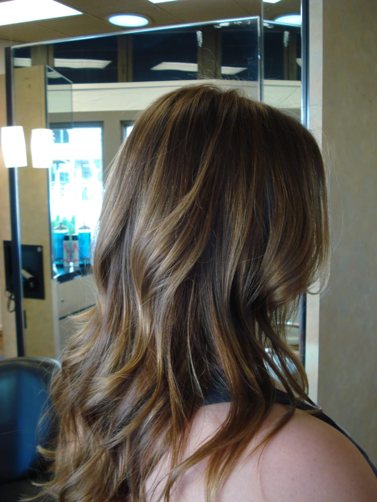 26 plain brown hair with subtle blonde highlights wodip beautiful when the difference in shade levels is big a subtle balayage technique comes across as dirty not chic highlights for dark hair can look great pmusecretfo Images