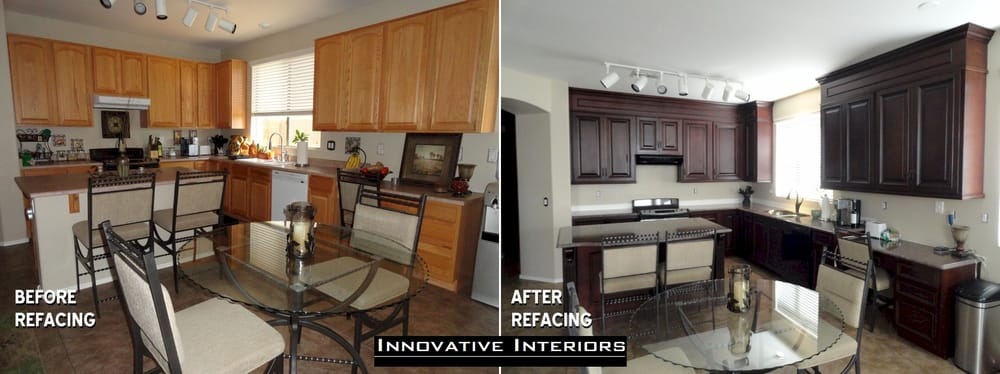 Kitchen Cabinet Refacing Before After Yelp