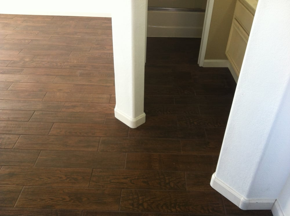 Faux tile flooring