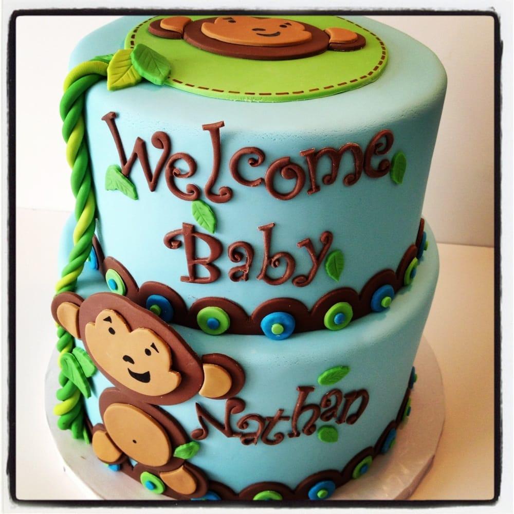 monkey baby shower cake yelp