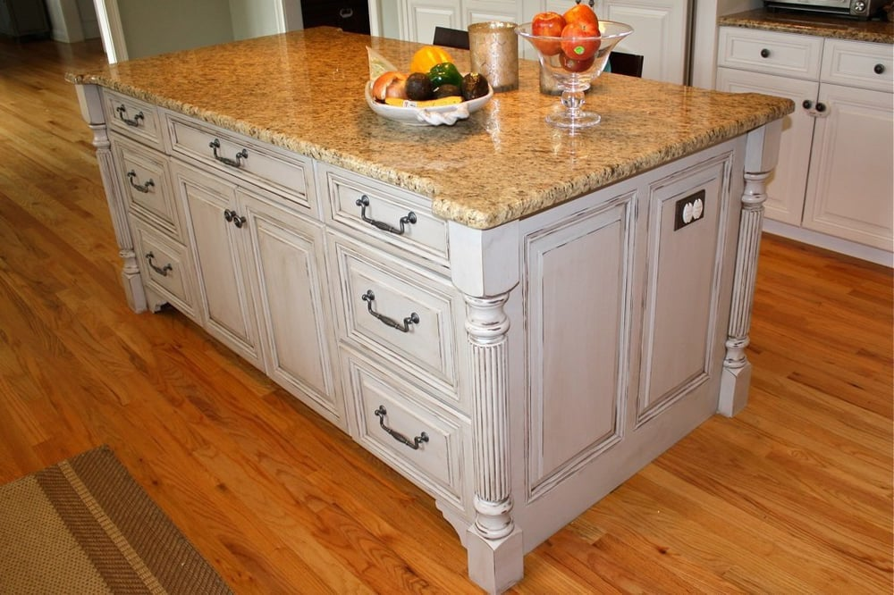 Custom painted kitchen island by casual chic corner yelp for Casual home kitchen island