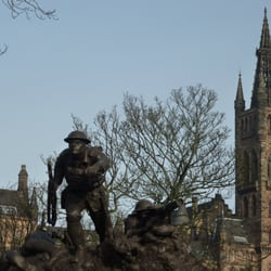 The Cameronians bronze sculpture