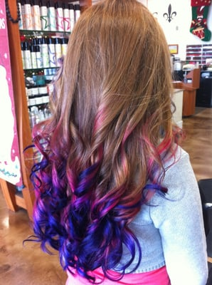 Pink and purple Ambre