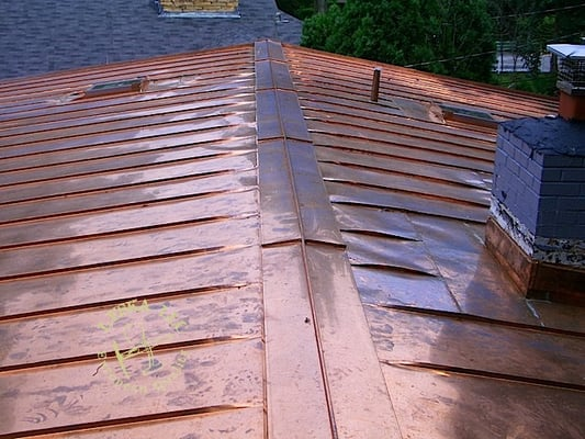 Ridge cap on copper standing seam roof yelp for Copper standing seam roof