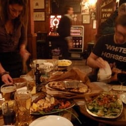Order food from the local restaurants to your table in the pub!