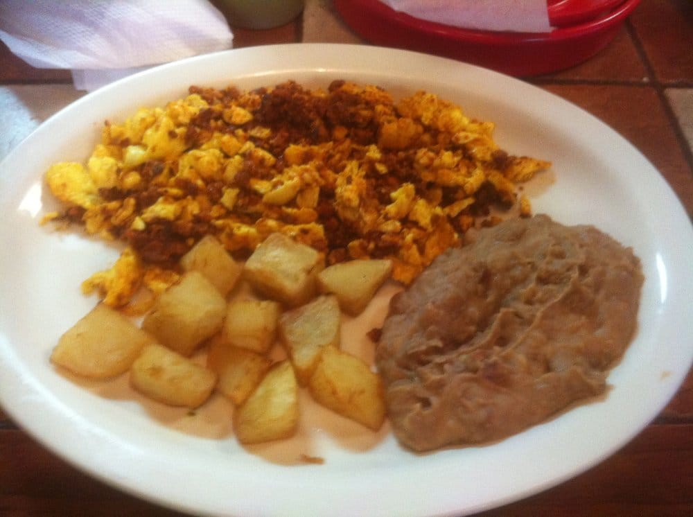 Chorizo and egg plate. | Yelp