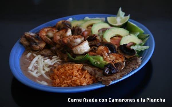 Carne Asada con Camarones a la Plancha   Yelp