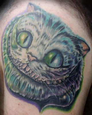 Alice in Wonderland Cat Tattoos