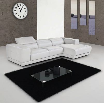 white leather angel sectional yelp
