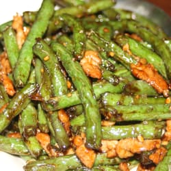 Braised String Beans with Pork by jj w.
