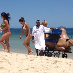 Everything you'd ever want can be found on the beach, including a camel.