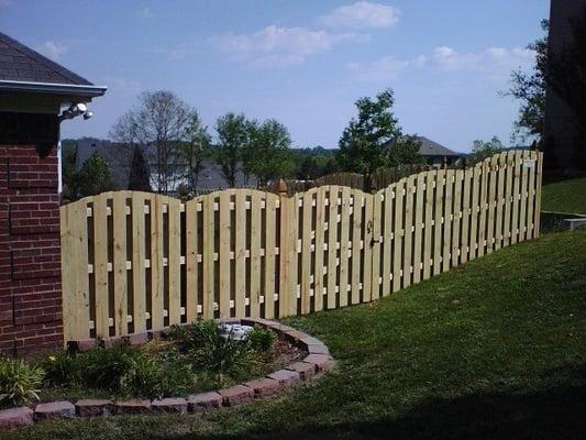 Wood Shadowbox Arch Fence Yelp