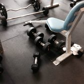 This is a common sight at the gym:  people leave their weights all over the gym floor instead of putting them back on the racks.