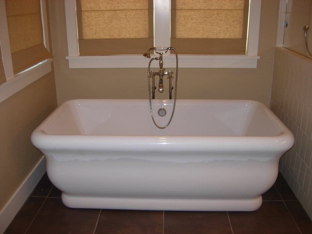 free standing soaking tub with hand shower yelp. Black Bedroom Furniture Sets. Home Design Ideas