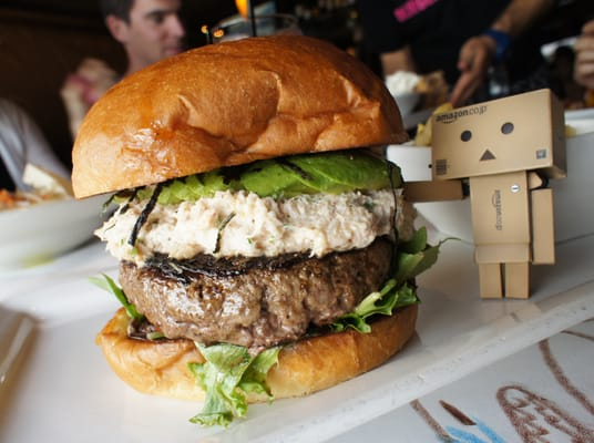 California roll sushi burger from 26 Beach in Venice, LA [536x400 ...
