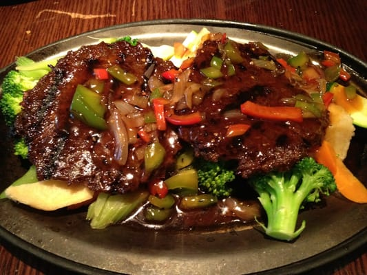 Sizzling Steaks with black pepper sauce (vegetarian) | Yelp