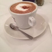 Very nice hot chocolate. Free, to warm me up before the long journey back to the hotel (50 yards) not complaining :-)