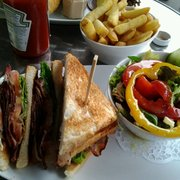 BLT comes with a side salad, small fries, and lots of B!