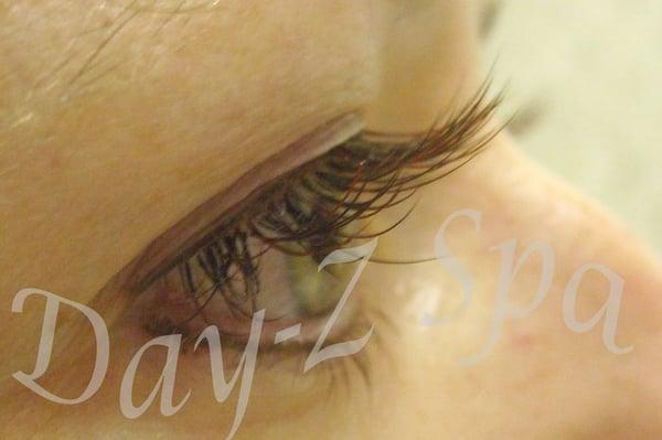 Eyelash Extensions In Brown 42