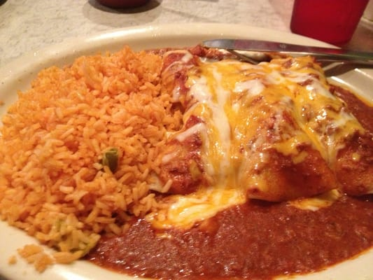 Enchilada plate (comes with 3) chicken, beef or cheese... Chili con ...