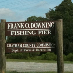Frank o downing fishing pier local flavor savannah for James river bridge fishing pier