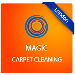 Logo of Magic Carpet Cleaning made by one of our team in London.