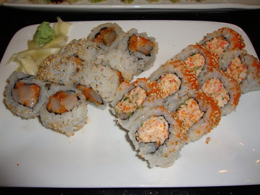L : (Spicy Scallop Roll) R : (Snow Crab Roll) ~ May 1st ...