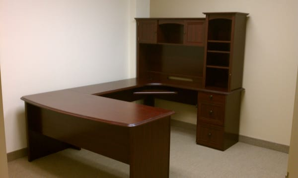 Realspace Broadstreet L-Shaped Desk with Hutch   Yelp