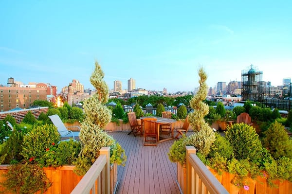 Roof garden design, Greenwich Village co-op | Yelp
