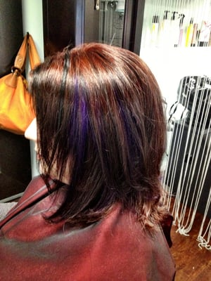 Purple Lowlights On Brown Hair