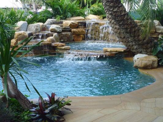 Pool Waterfall Natural Rock Waterfall In Florida Yelp