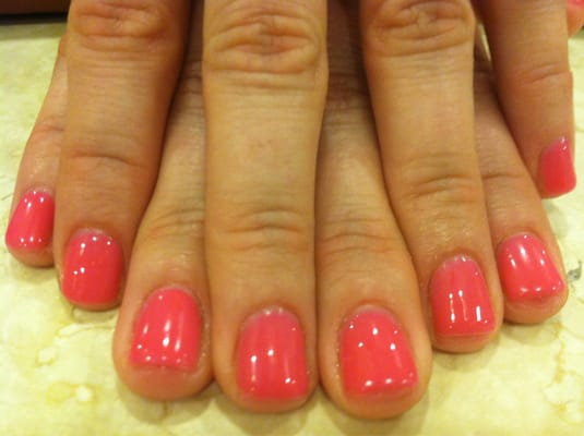 Tropic shellac gel manicure by Tyson | Yelp