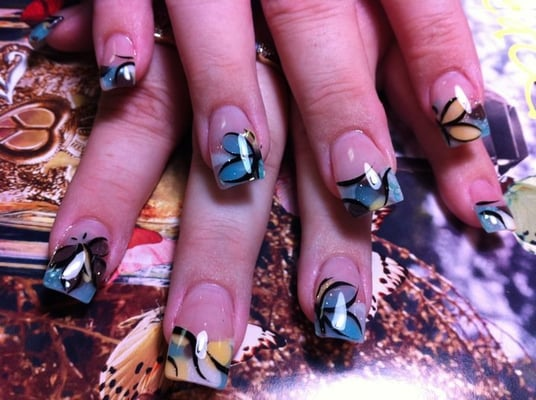 Butterfly Gel Powder Nails. | Yelp