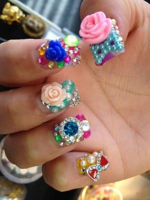 Sactown nail spa 3d nail art yelp for 3d nail art salon