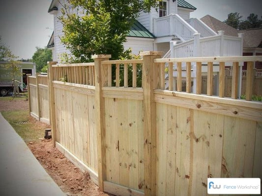 Custom Pine Privacy Fence Atlanta Yelp