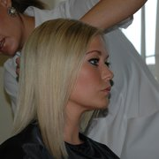 Suzanne Shaw having extensions fitted