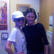 Paris Hilton visits Mayfair Tanning