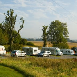 Caravan Site at Greetham Retreat near Horncastle in Lincolnshire