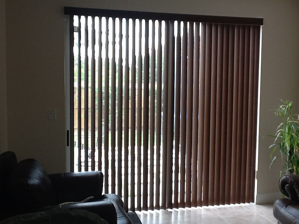 Vertical Blinds On Large Sliding Glass Doors Yelp
