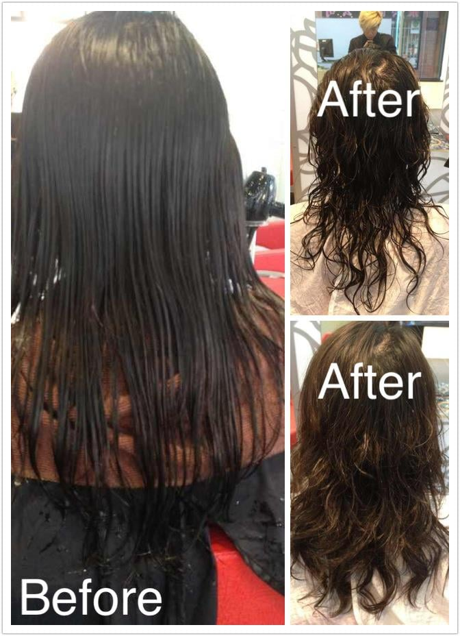 digital perm before and after pictures