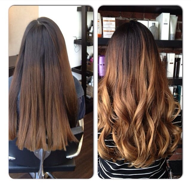 Balayage Highlights Ombre Effect Before And After Yelp