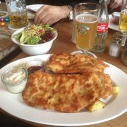 Delicious weiner schnitzel - Easter Sunday 2013.
