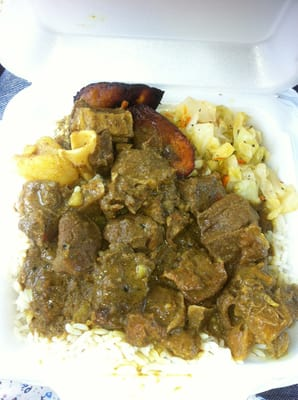 how to make curry goat and rice