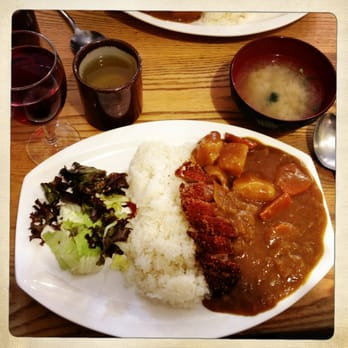 Chicken katsu curry and comes with Misho soup! Amazing!!!!