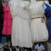 These dresses appeared at booth after booth